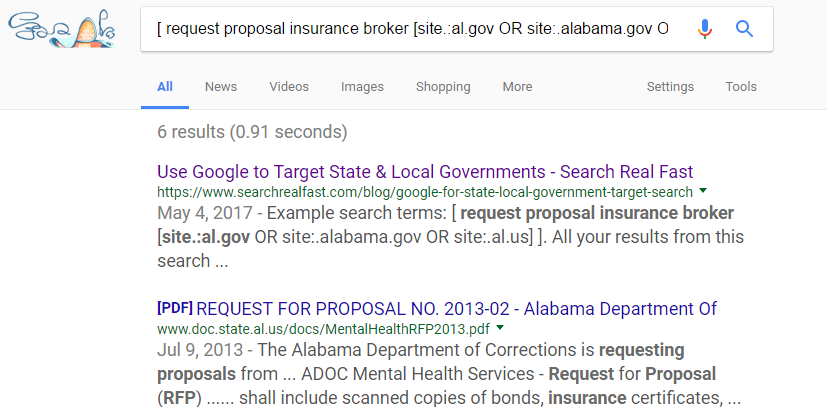 Use Google Date Range Feature to find Current Federal, State & Local